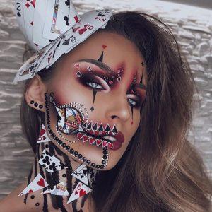 illusion scary halloween makeup