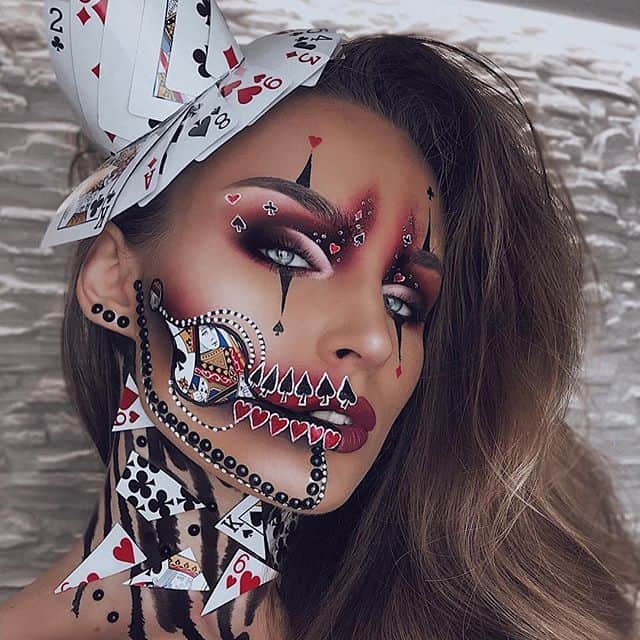 illusion scary halloween makeup