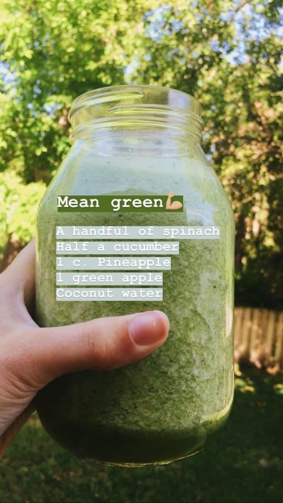 hea;lthy green smoothie recipe
