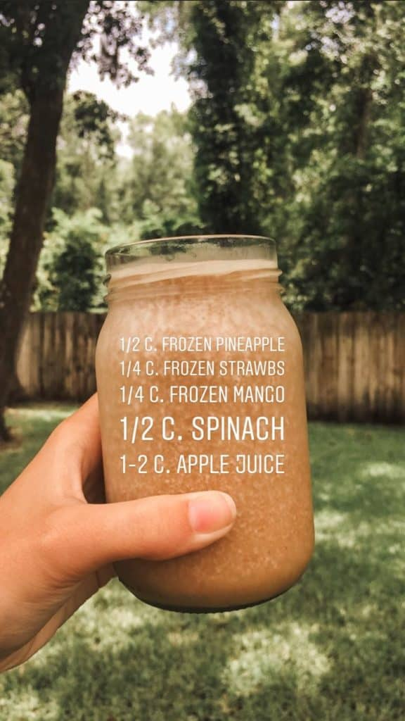 brown healthy smoothie recipe