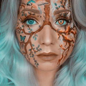 tree branches simple easy halloween makeup