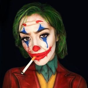 joker movie clown halloween makeup