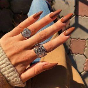 brown short fall nail color