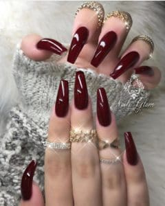 wine nails for fall