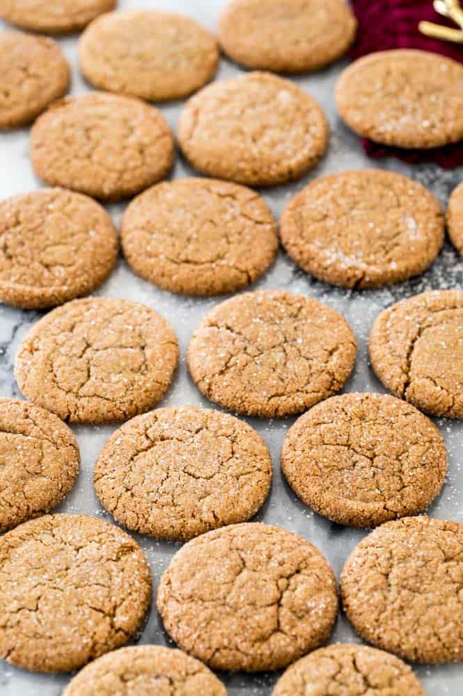 Crispy ginger snap cookies recipe