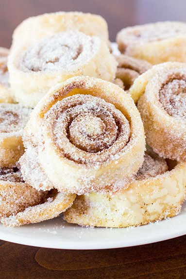Sugar cinnamon pie crust pinwheel cookies
