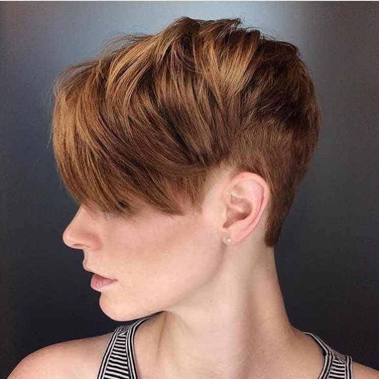 brown pixie cut