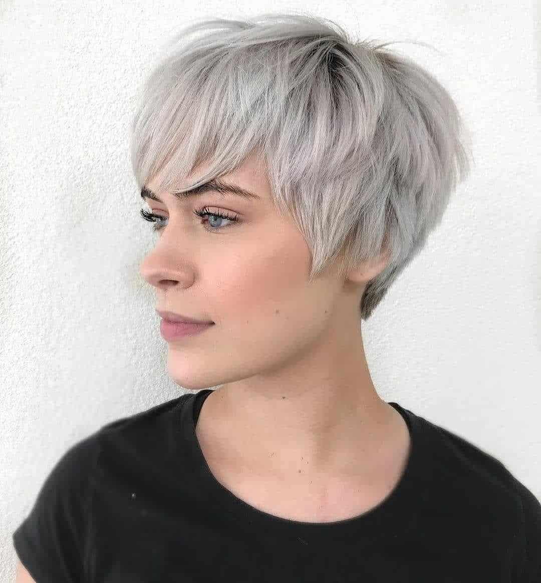platinum silver messy pixie cut