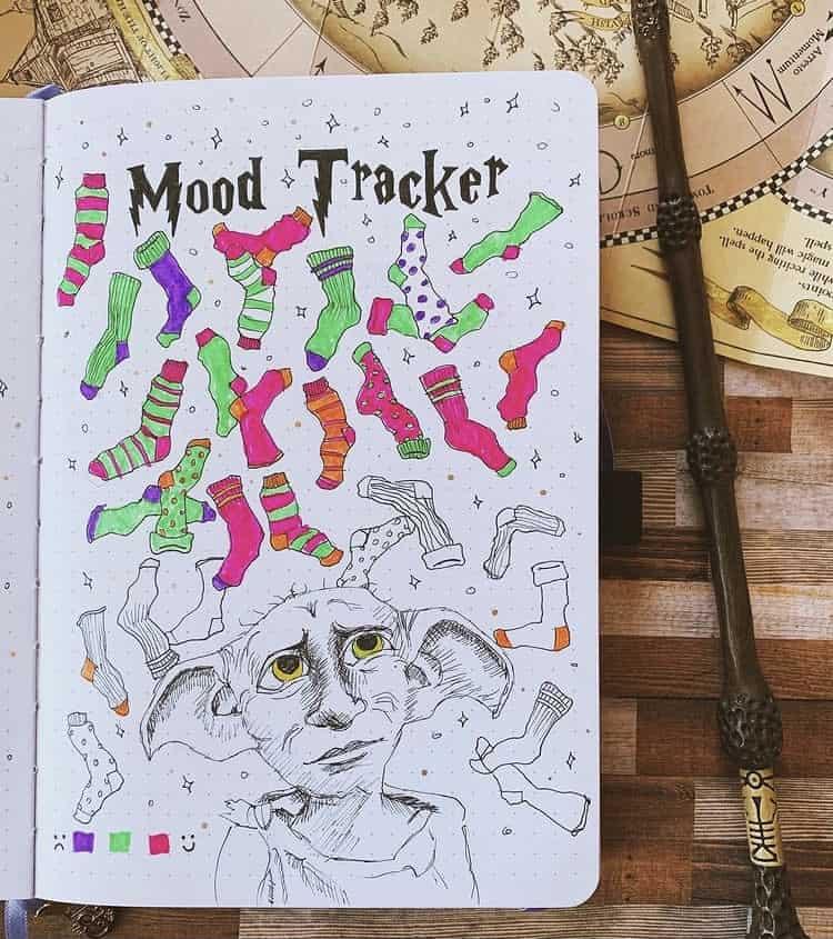 Happy socks mood tracker ideas