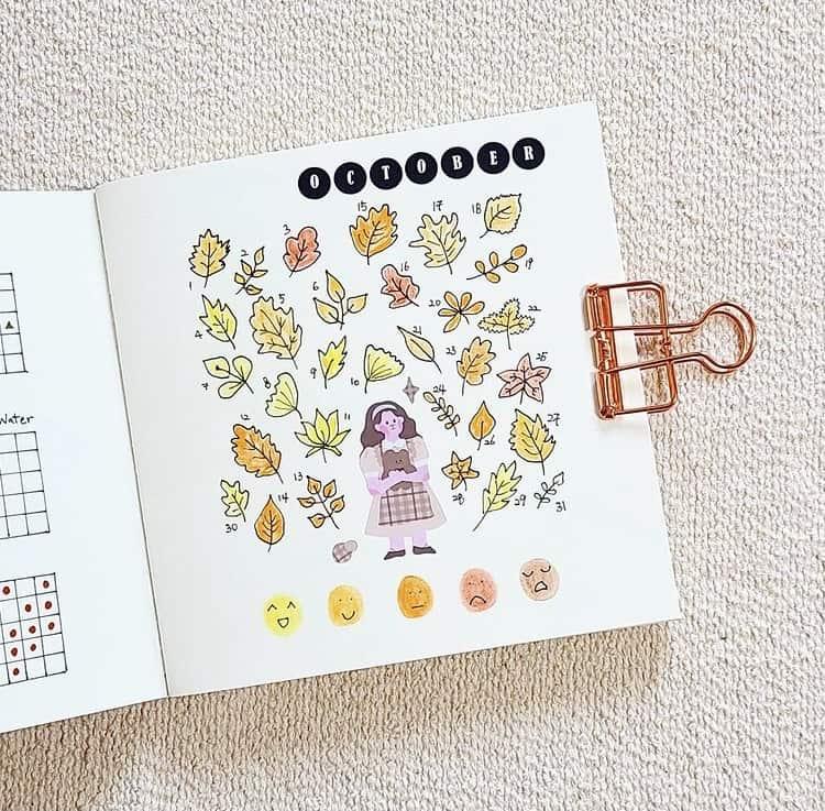 October mood tracker ideas