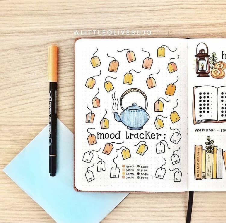 Creative bujo mood tracker ideas