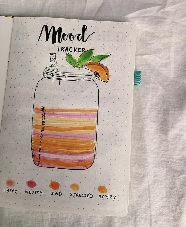 Mason jar mood tracker idea