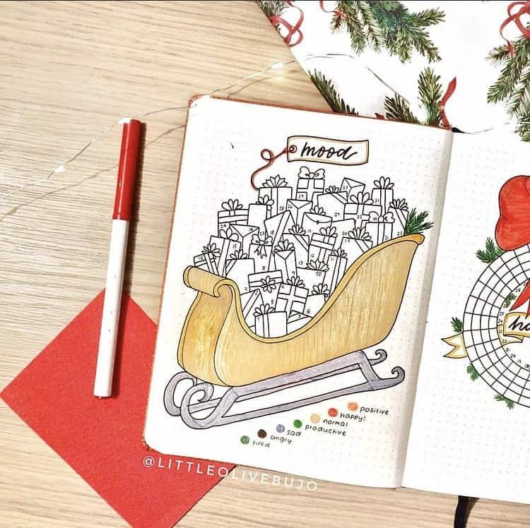 Creative Christmas mood tracker ideas