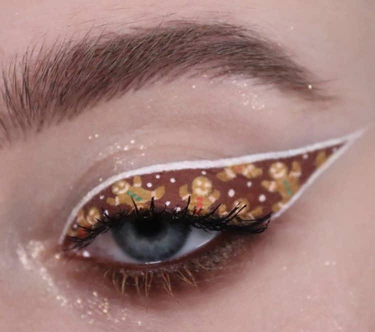 Gingerbread man eyeshadow indie makeup