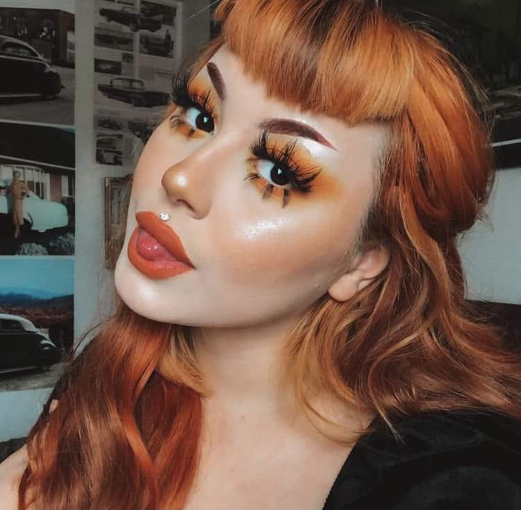 Alternative makeup x ginger hair