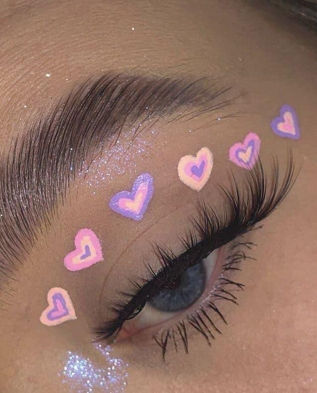 Glitter eyeshadow indie makeup looks