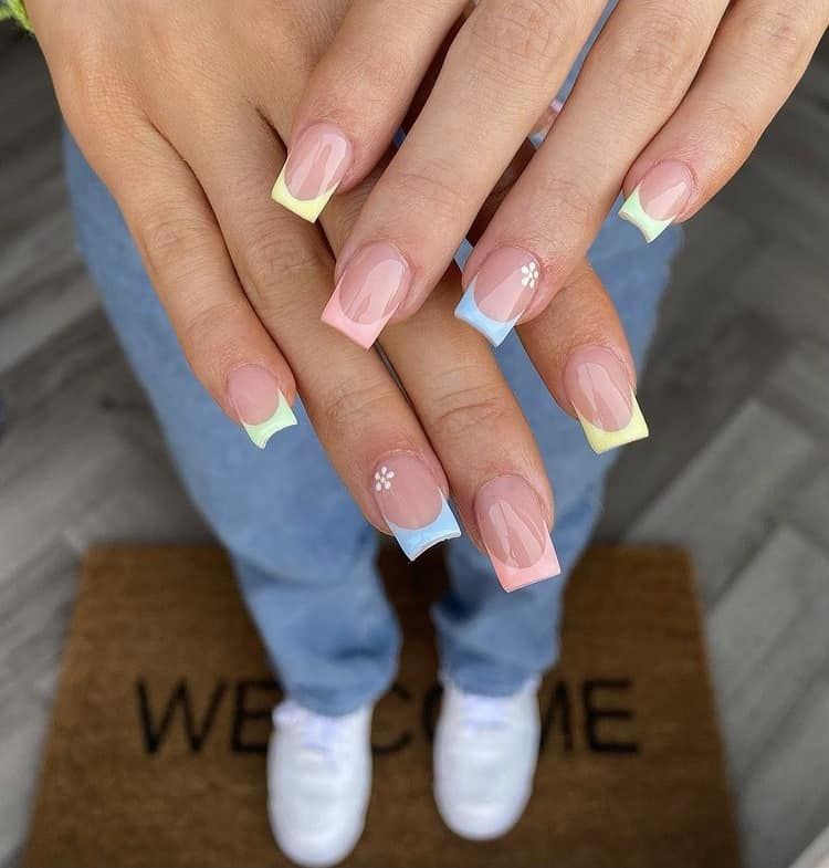 pastel French tips