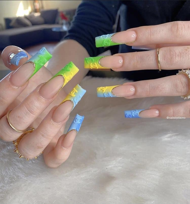 Chanel French nail tips