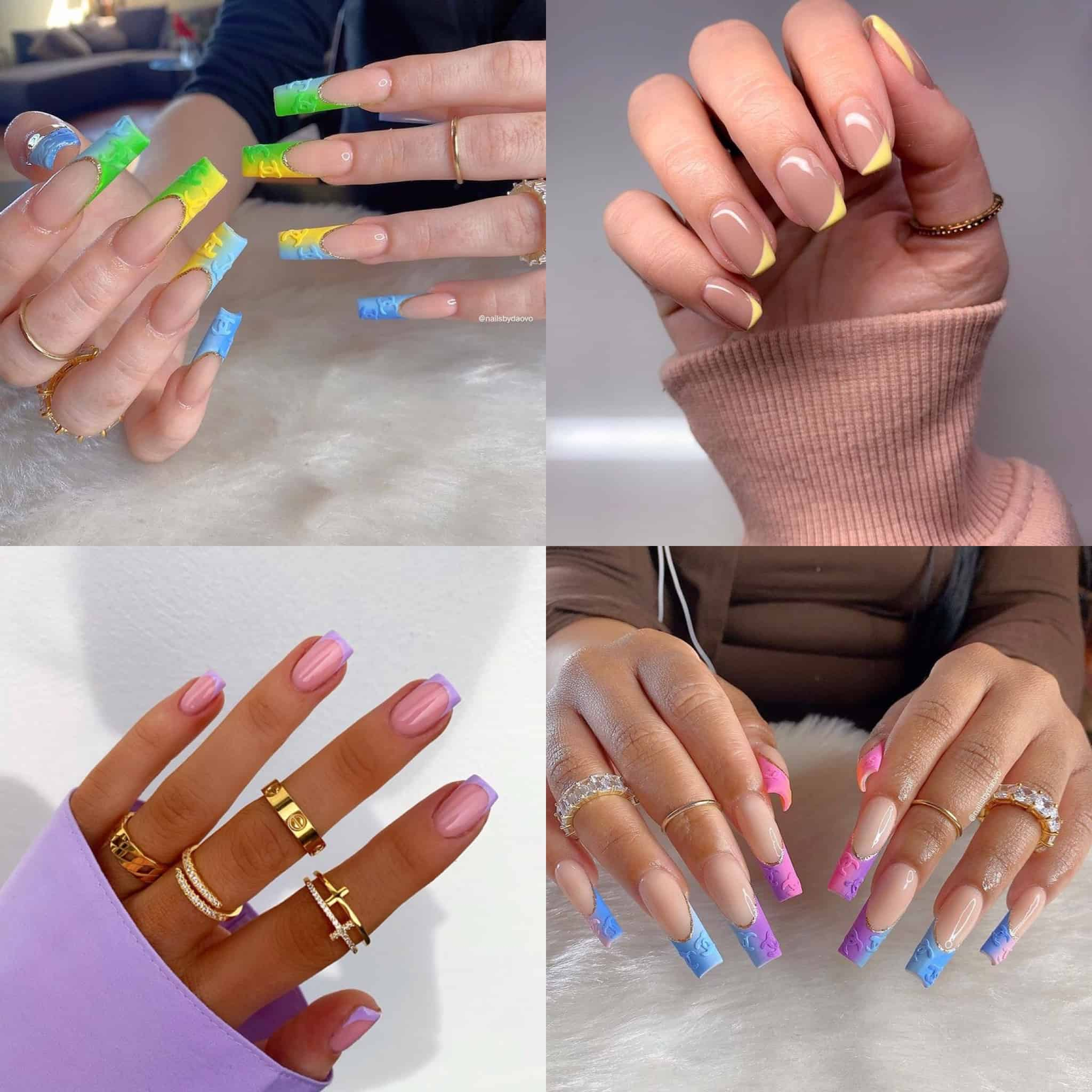 50 French Tip Nails Ideas, Colors & Designs