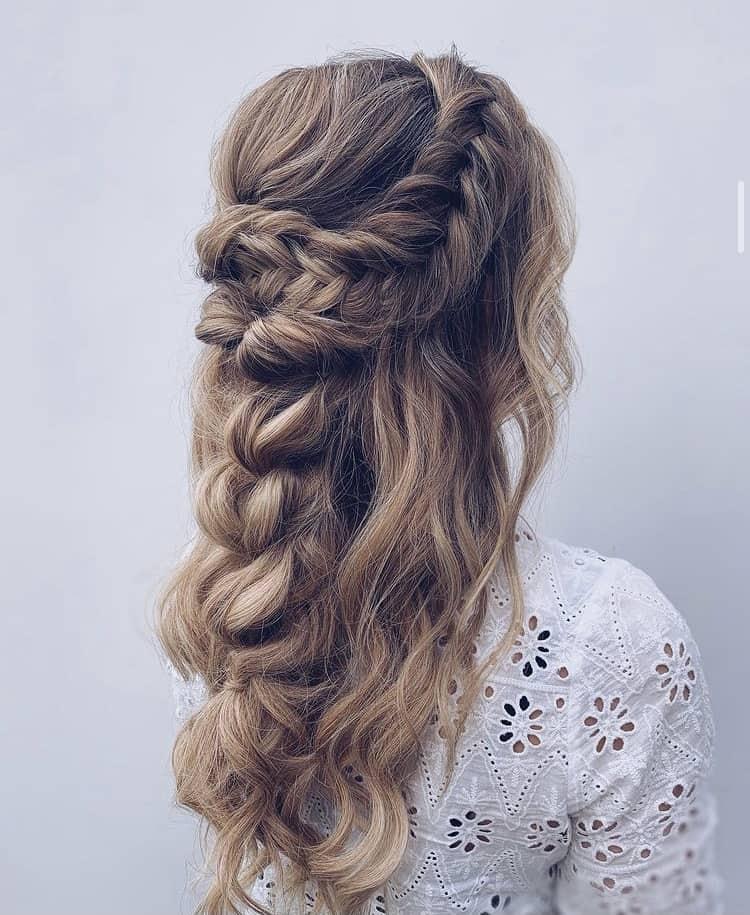 braids and a pull through