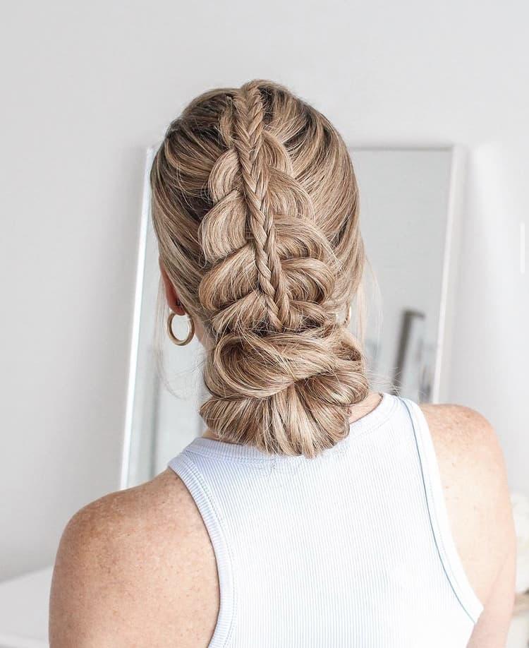 dutch braids bridal updo