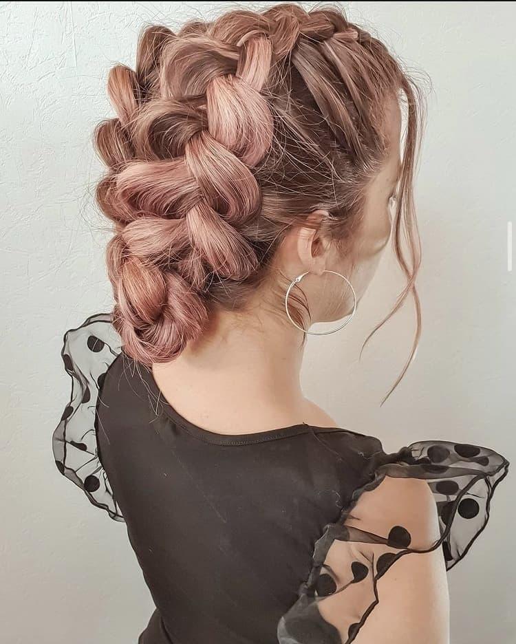 double voluminous dutch braids